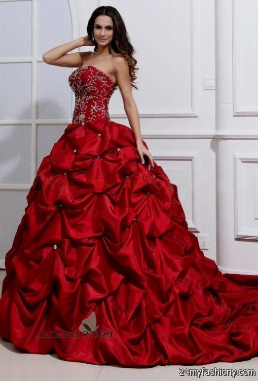 Red Wedding Dresses 2016 2017 B2b Fashion