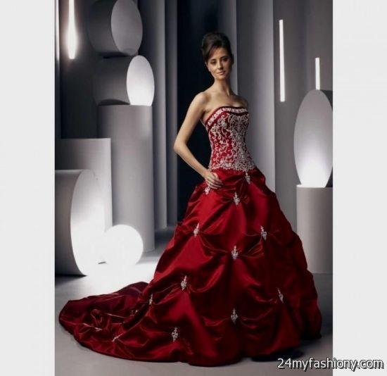 Red White And Black Wedding Dress Looks B2b Fashion