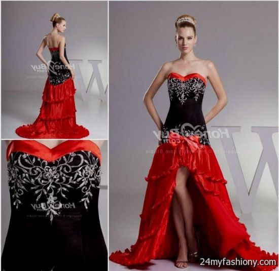 Red White And Black Wedding Dress 2016 2017