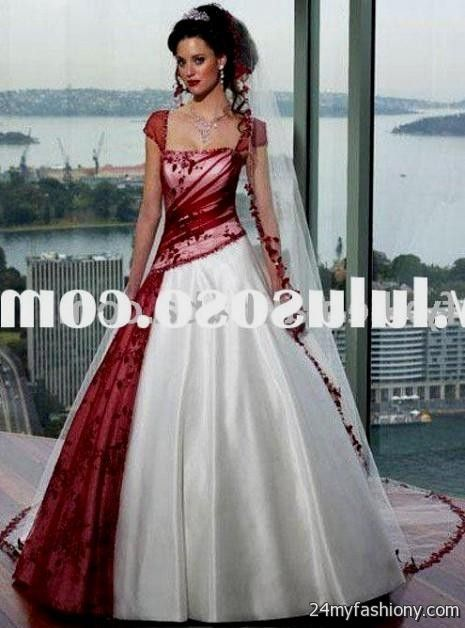 Red White And Black Wedding Dress 2016 2017 B2B Fashion