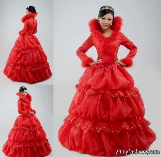 Red Winter Formal Dresses 2016 2017 B2b Fashion