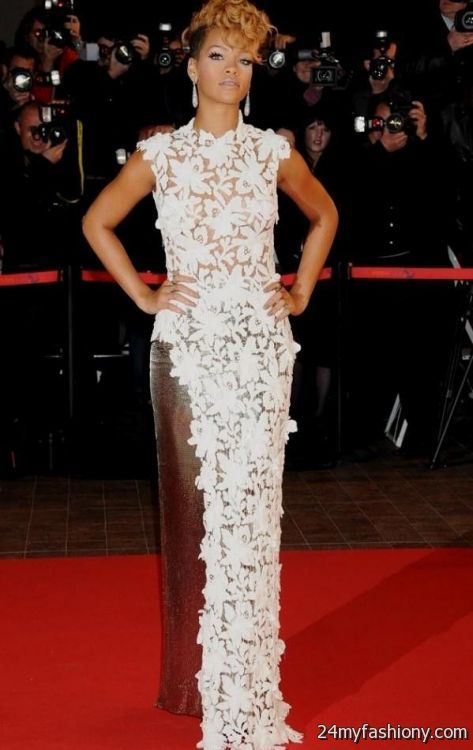 rihanna dresses on the red carpet 20162017 b2b fashion