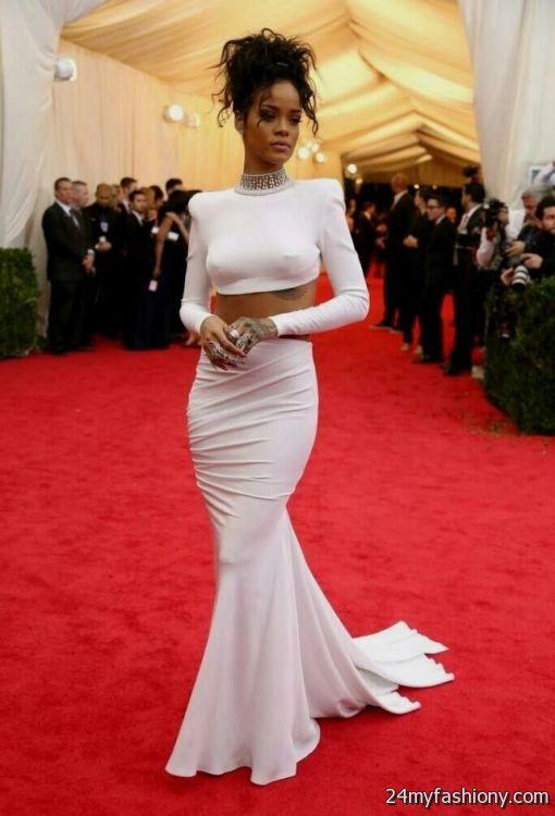 Rihanna Dresses On The Red Carpet 2016 2017 B2b Fashion