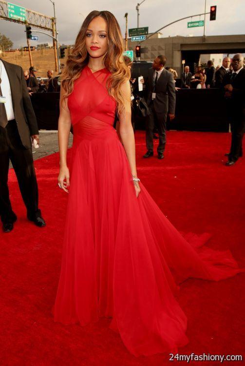 rihanna red carpet dresses 20162017 b2b fashion