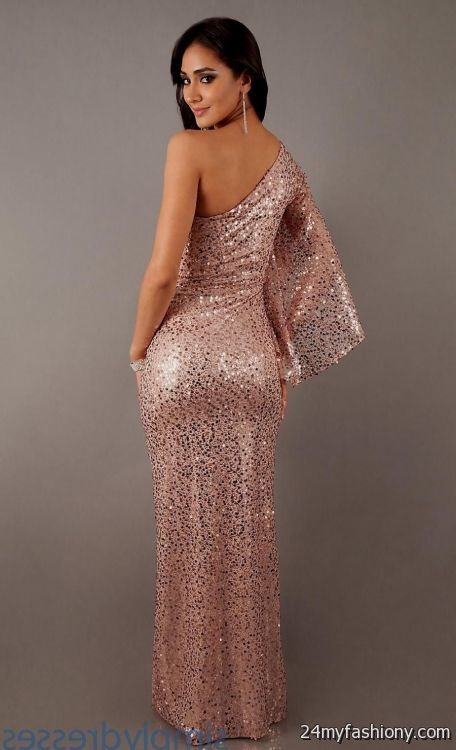 Rose Gold Long Bridesmaid Dress 2016 2017