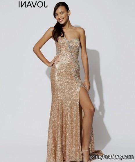 2015 Gold Prom Dresses