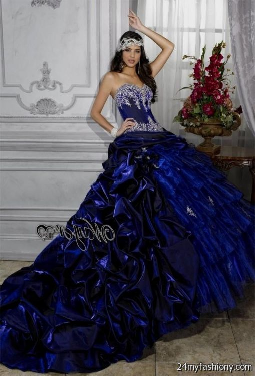 royal blue and black quinceanera dresses 2016-2017 » B2B Fashion