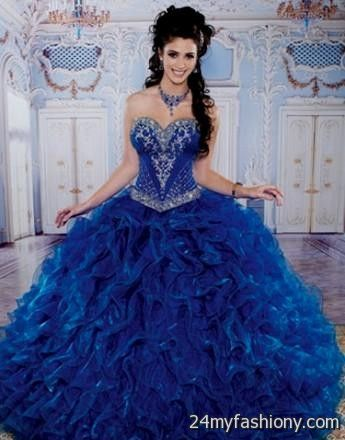 royal blue and gold quinceanera dresses looks | B2B Fashion