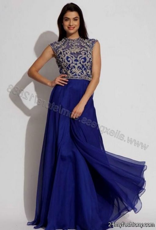 Royal blue and silver bridesmaid dresses wedding dresses for Blue silver wedding dress
