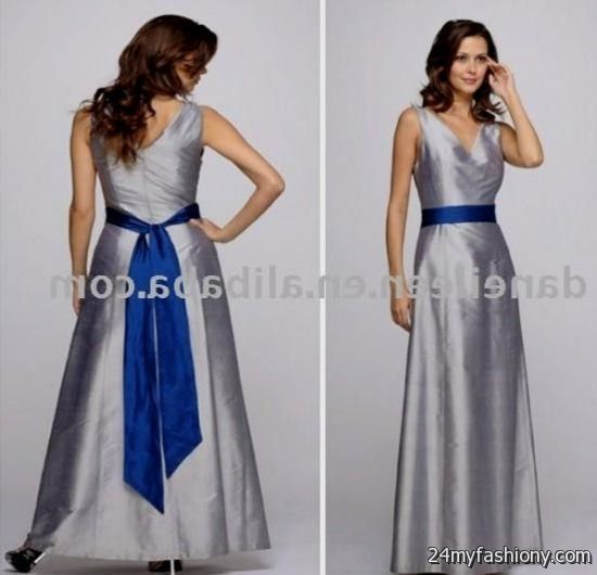 Silver Blue Bridesmaid Dresses 51