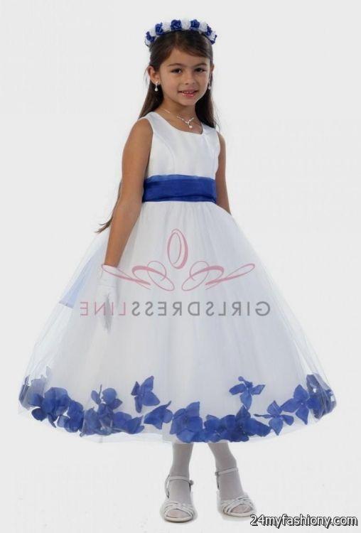 royal blue and white flower girl dresses 2016-2017 | B2B Fashion