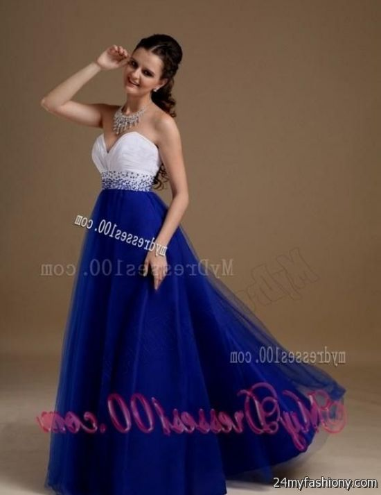 Royal Blue And White Prom Dresses - Prom Dresses With Pockets