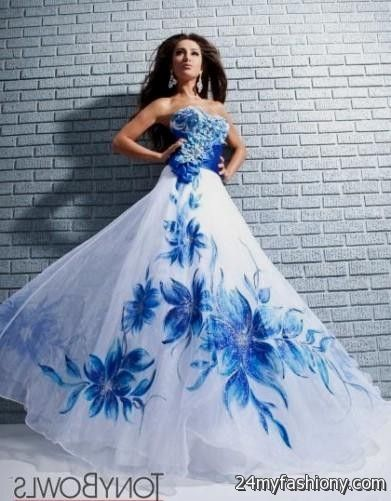 Royal Blue And White Prom Dresses 2016 2017 B2b Fashion