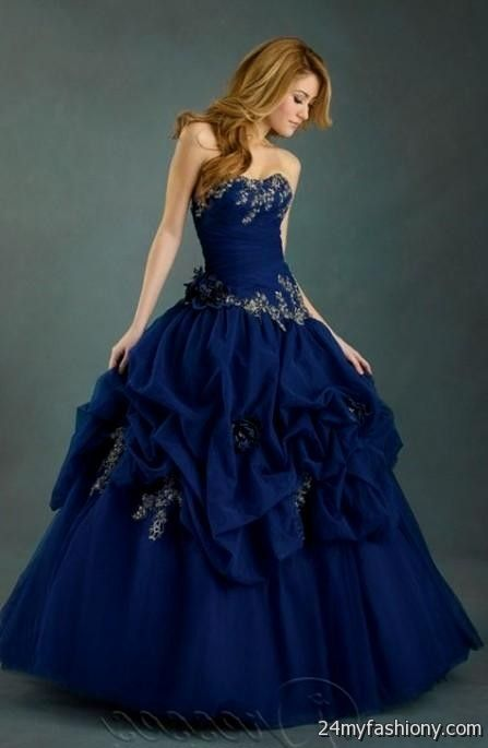 Royal Blue Ball Gown Looks B2b Fashion