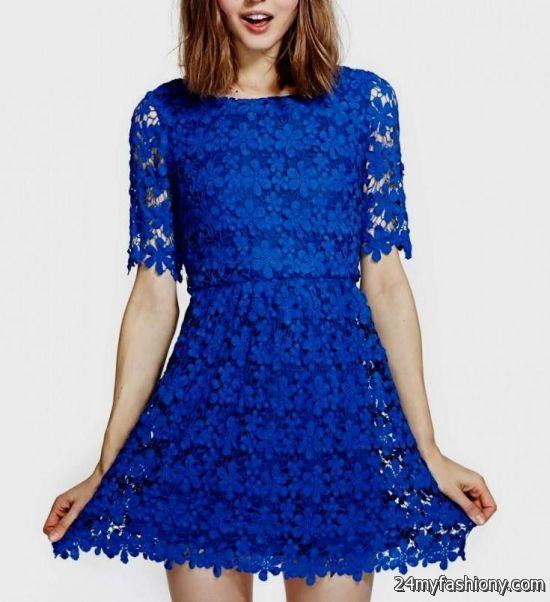 royal blue casual lace dresses 2016-2017 » B2B Fashion