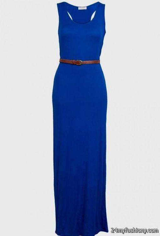 Royal Blue Maxi Dress Casual - Missy Dress