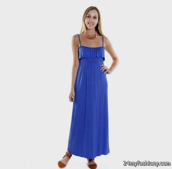 royal blue casual maxi dress 2016-2017 » B2B Fashion