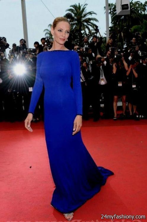 royal blue dress red carpet 2016-2017 | B2B Fashion