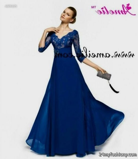 royal blue gowns with sleeves 2016-2017 » B2B Fashion