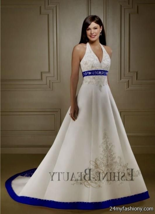 royal blue and white wedding dresses - Wedding Decor Ideas