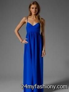 Maxi dress size 0 royal blue
