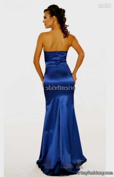 royal blue mermaid prom dresses strapless 2016-2017 » B2B Fashion