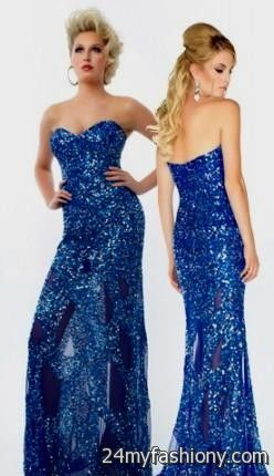 58e2e269 Affordable junior prom, graduation, plus-size formal dresses. You can share  these royal blue sparkly prom dress on Facebook ...