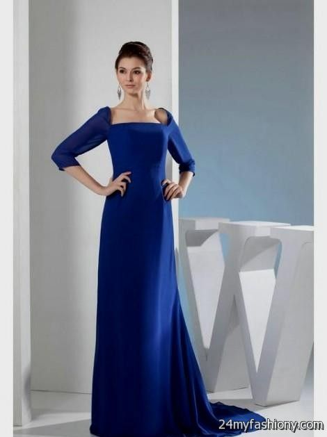 Royal Blue Wedding Dresses With Sleeves