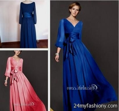 Blue Wedding Dresses With Sleeves Thumbmediagroup