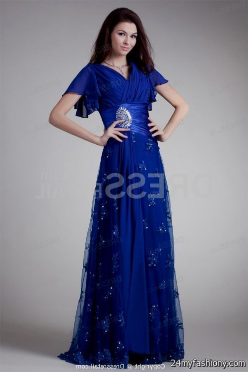 Blue wedding dresses with sleeves great ideas for for Blue wedding dress with sleeves