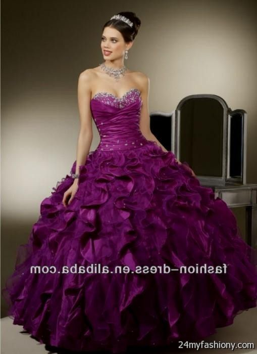 Royal Purple Wedding Dress Looks B2b