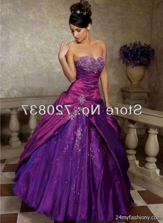 Royal Purple Wedding Dress 2016 2017