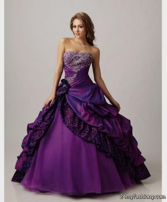 Royal purple wedding dress 2016 2017 b2b fashion for Royal purple and white wedding dress