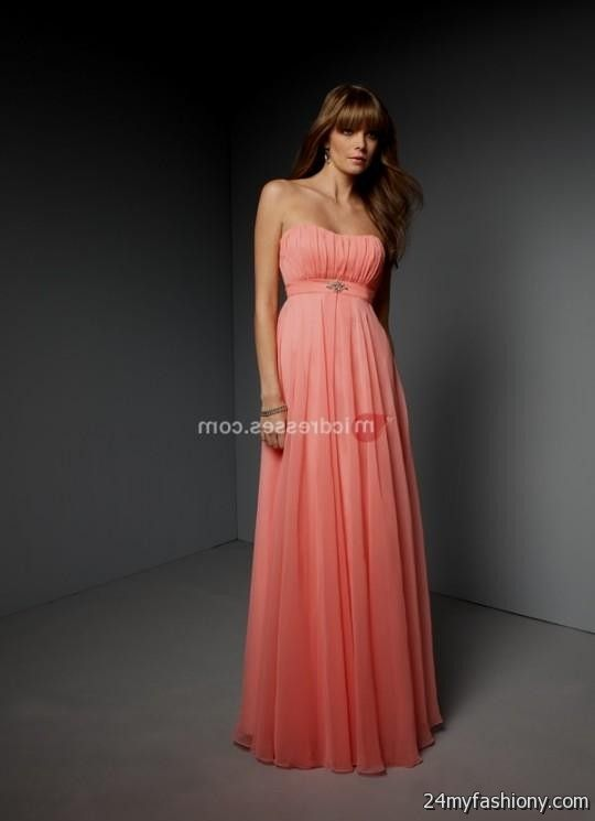 salmon bridesmaid dresses 2016-2017 | B2B Fashion