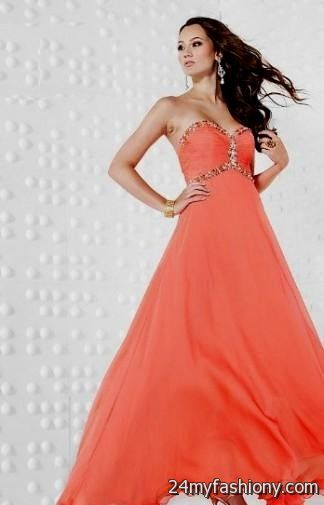 salmon quinceanera dresses 2016-2017 | B2B Fashion Salmon Prom Dresses 2013