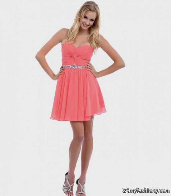 Salmon Short Prom Dresses