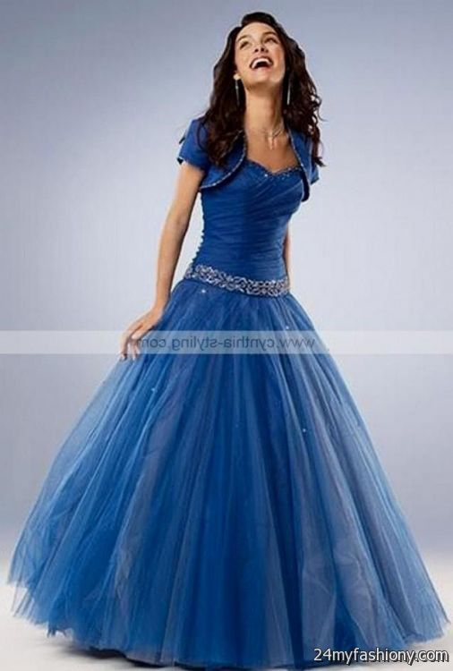Blue gothic prom dresses