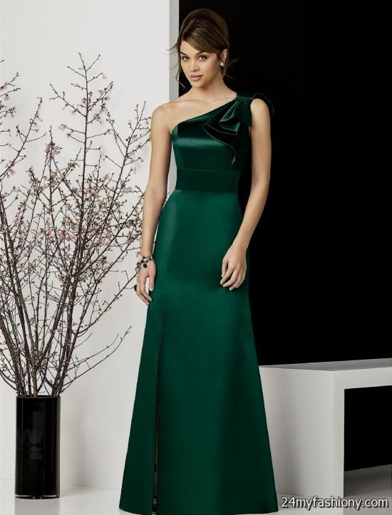 satin emerald green bridesmaid dresses 2016-2017 | B2B Fashion