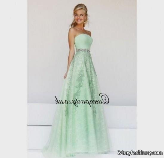 seafoam green prom dress strapless 2016-2017 | B2B Fashion