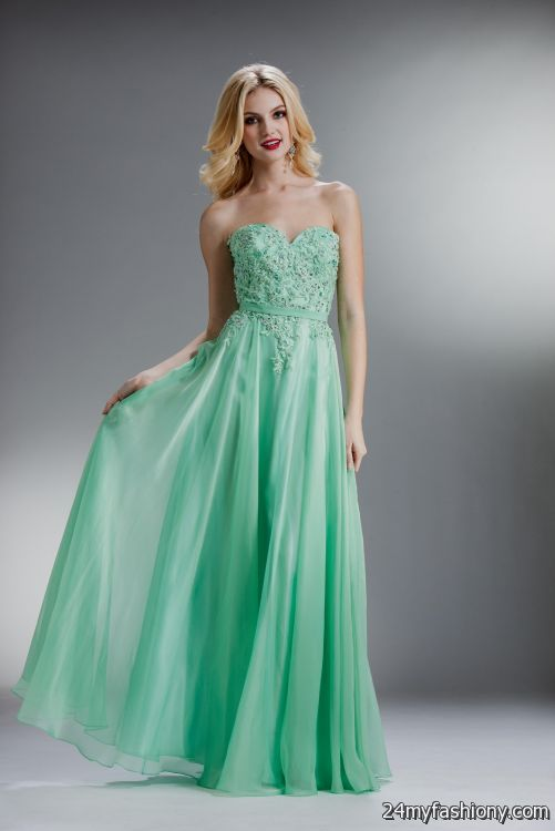 Seafoam Green Prom Dress Strapless Looks B2b Fashion