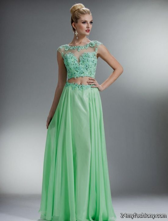 seafoam green prom dress with lace 2016-2017 » B2B Fashion