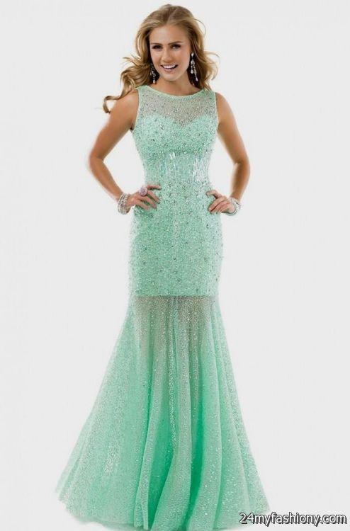 Seafoam Green Prom Dress With Lace Looks B2b Fashion