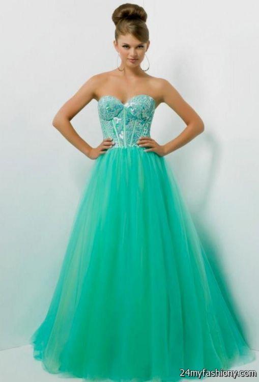 Seafoam Green Prom Dress With Straps Looks B2b Fashion