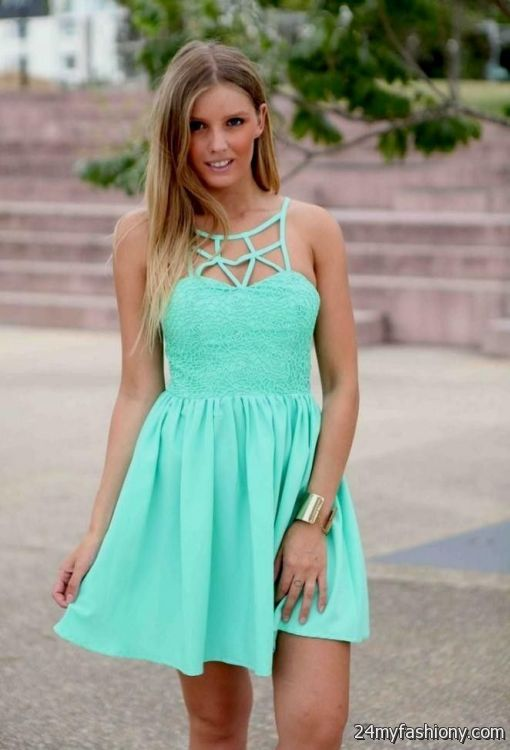 seafoam green summer dress 2016-2017 » B2B Fashion