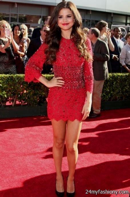 selena gomez red dress 20162017 b2b fashion