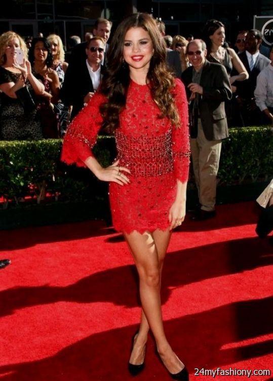 Selena Gomez red dress photoshoot 2016-2017 » B2B Fashion