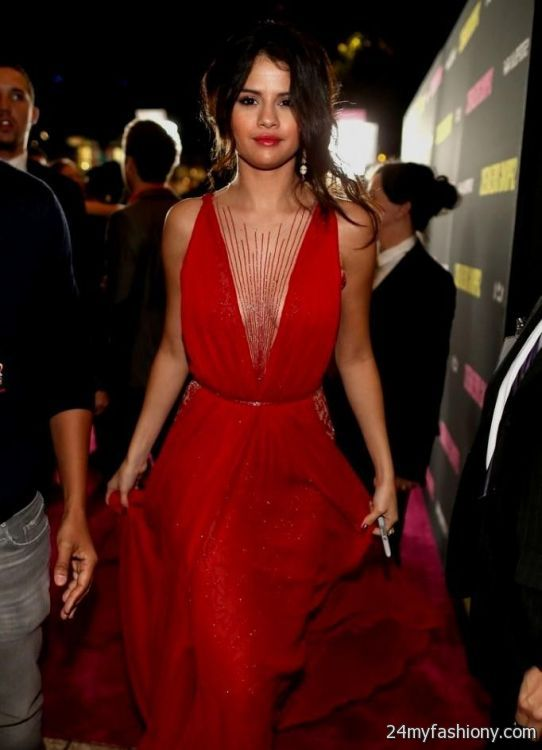 Selena Gomez Red Dress Photoshoot 2016 2017 187 B2b Fashion