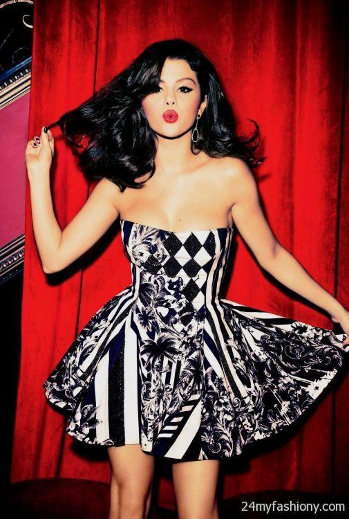 Selena Gomez red dress photoshoot 2016-2017 | B2B Fashion