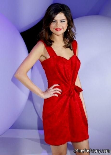 Selena Gomez Red Dress Photoshoot Looks B2b Fashion