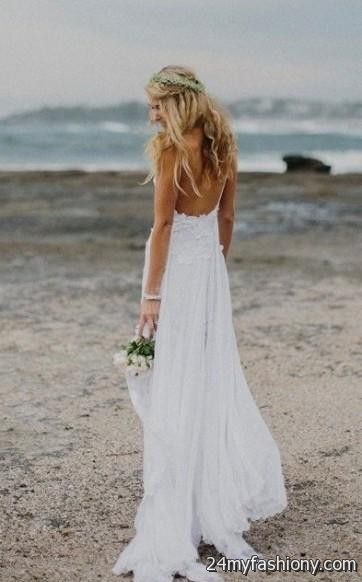 Sexy backless beach wedding dresses 2016 2017 b2b fashion for Beach wedding dresses 2017